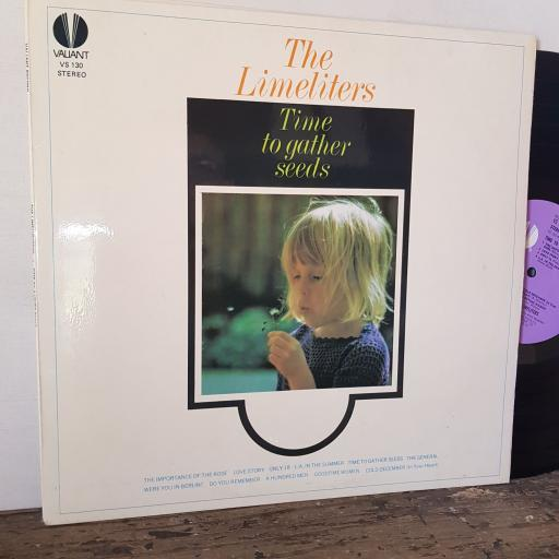 """THE LIMELITERS Time to gather seeds, 12"""" vinyl LP. VS130"""