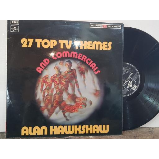 "ALAN HAWKSHAW 27 top tv themes & commercials, 12"" vinyl LP compilation. TWO391"