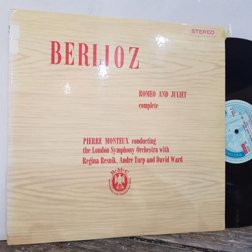 "BERLIOZ / PIERRE MONTEUX CONDUCTING THE LONDON SYMPHONY ORCHESTRA WITH REGINA RESNIK, ANDRE TURP AND DAVID WARD Romeo and juliet complete, 2x 12"" vinyl LP. SCM57."