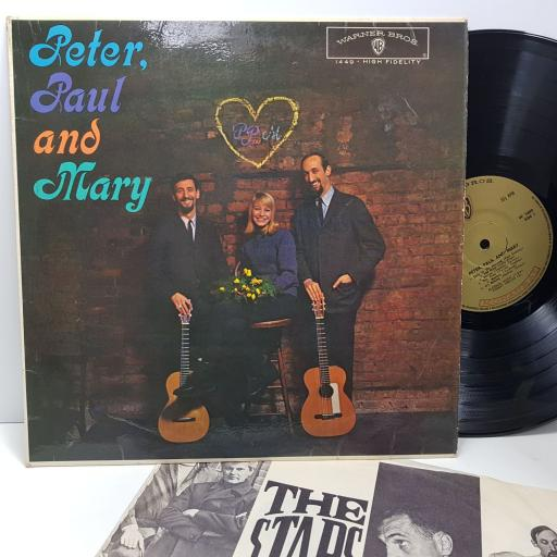"""PETER, PAUL AND MARY, 12"""" vinyl LP. W1449"""