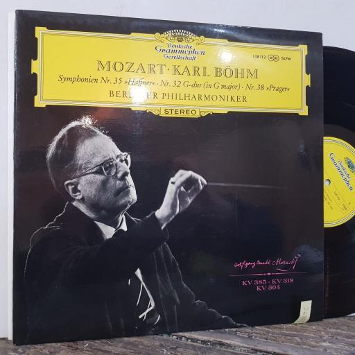 "Symphonien nr.35 ""haffner"" - nr.32 g-dur (in g major) - nr.38 ""prager"", 12"" vinyl LP. 138112"