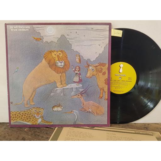 """BRUCE COCKBURN Joy will find a way. 12"""" vinyl LP. TN23"""