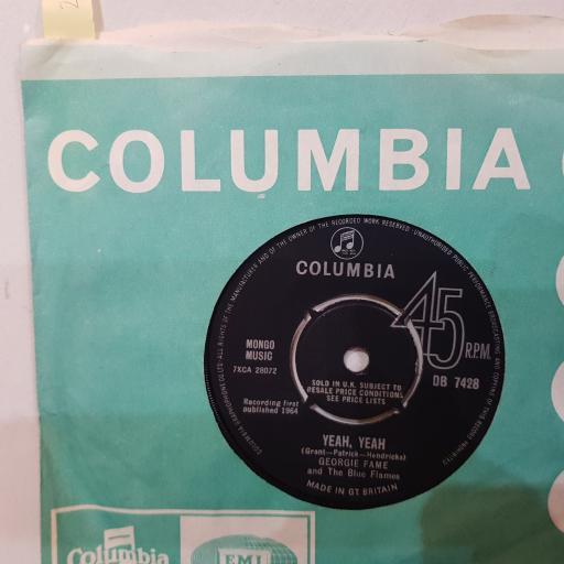 "GEORGIE FAME AND THE BLUE FLAMES Yeah yeah, preach and teach, 7"" vinyl single. DB7428"