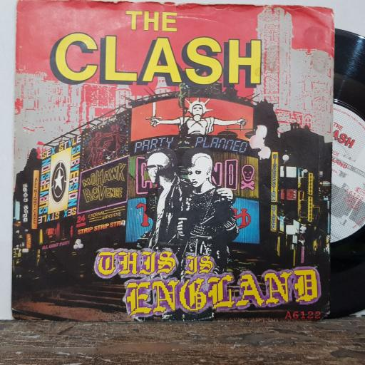 """THE CLASH This is england, Do it now, 7"""" vinyl single. A6122"""
