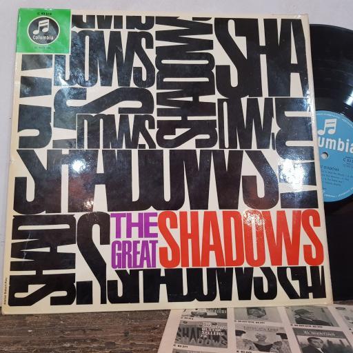 "THE SHADOWS The great shadows, 12"" vinyl LP. C83519"