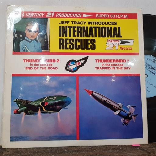 "JEFF TRACEY International rescues, 12"" vinyl LP. LA3"
