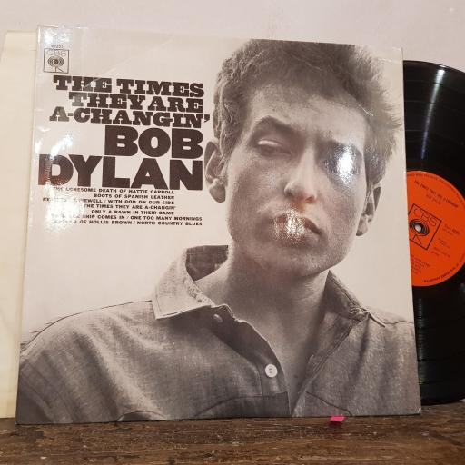 """BOB DYLAN The time they are a-changin', 12"""" vinyl LP. S62251"""