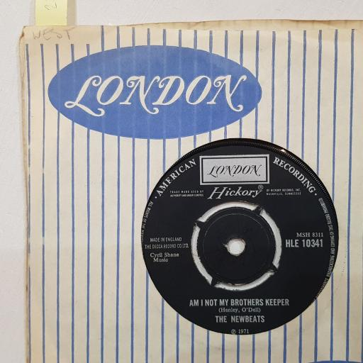 """THE NEWBEATS Am i not my brothers keeper, Run baby run (back into my arms), 7"""" vinyl single. HLE10341"""