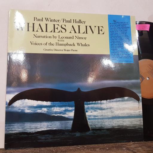 "PAUL WINTER / PAUL HALLEY, LEONARD NIMOY Whales alive, 12"" vinyl LP. LM0013"