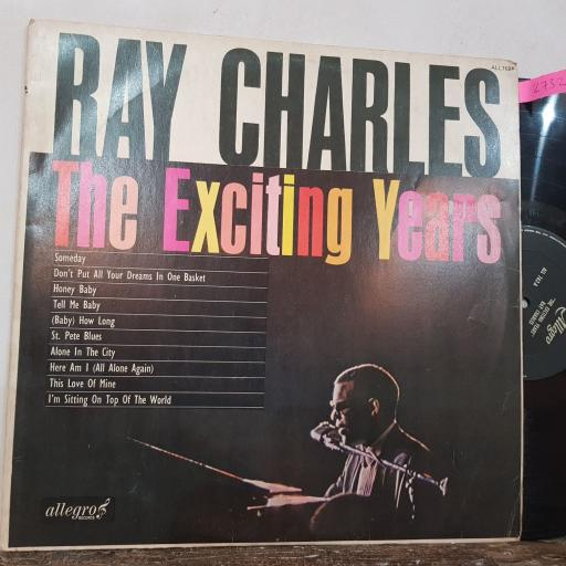 """RAY CHARLES The exciting years, 12"""" vinyl LP compilation. ALL762"""