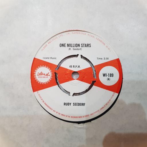 """RUDY SEEDORF One million stars, Mr blue, 7"""" vinyl single. WI189"""