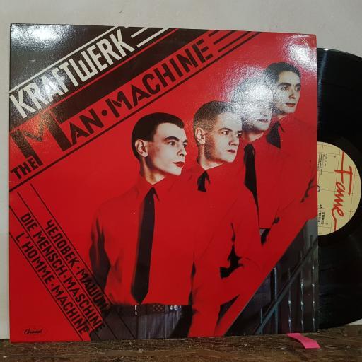 """KRAFTWERK The man machine, 12"""" vinyl LP. FA4131181"""