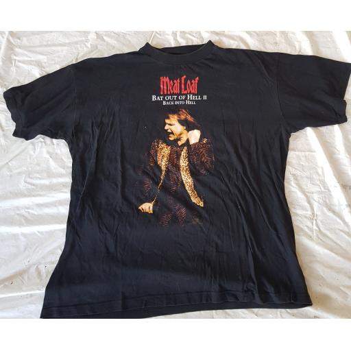 MEAT LOAF, original tour t-shirt BAT OUT OF HELL II BACK INTO HELL