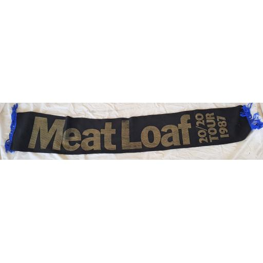 MEAT LOAF 20 20 TOUR 1987 scarf