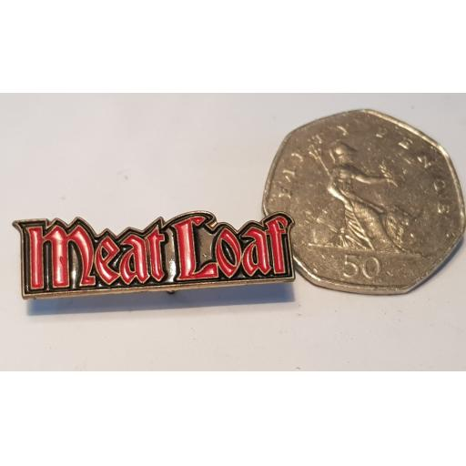 BADGE MERCHANDISE. Meat Loaf. small.SHAPED DIE-CAST TOUR BADGE