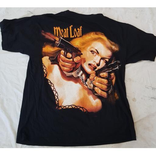 MEAT LOAF original tour t-shirt PISTOLS