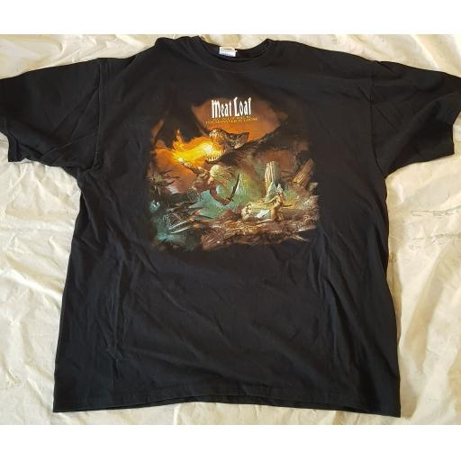 MEAT LOAF, original tour t-shirt BAT OUT OF HELL III THE MONSTER IS LOOSE
