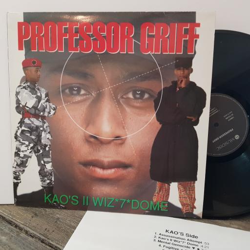 "PROFESSOR GRIFF Kao's wiz *7* dome, 12"" vinyl LP. 108421"