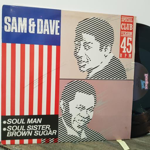 "SAM AND DAVE Soul man, 12"" vinyl MAXI-SINGLE. 128604"