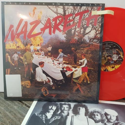 """NAZARETH Malice in wonderland, 12"""" RED vinyl LP. SALVO391LP"""