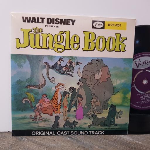 """THE JUNGLE BOOK"" ORIGINAL CAST The jungle book (soundtrack), 7"" vinyl single. BVE201"