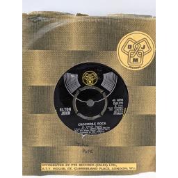 "ELTON JOHN Crocodile rock, Elderberry wine, 7"" vinyl SINGLE. DJS271"