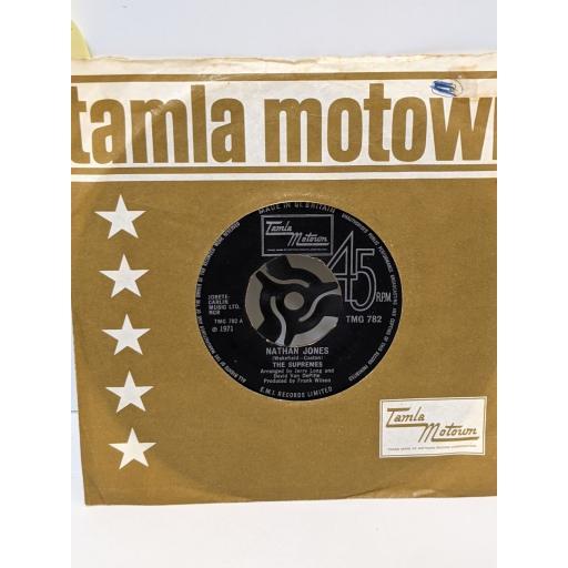 "THE SUPREMES Nathan jones, Happy (is a bumpy road), 7"" vinyl SINGLE. TMG782"