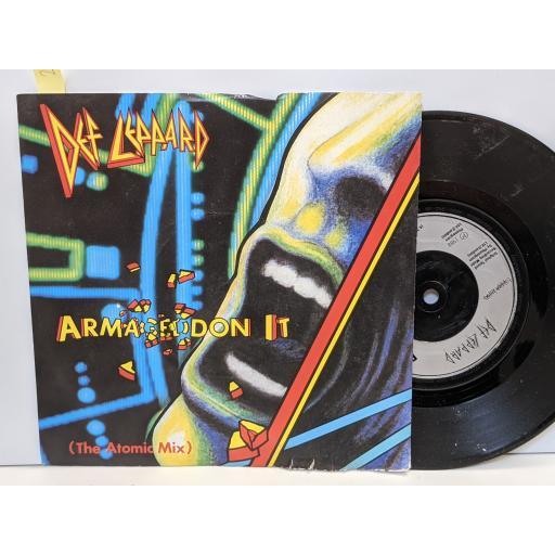 "DEF LEPPARD Armageddon, Ring of fire, 7"" vinyl SINGLE. LEP4"
