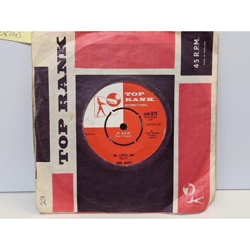 "JACK SCOTT Oh little one, Burning bridges, 7"" vinyl SINGLE. JAR375"