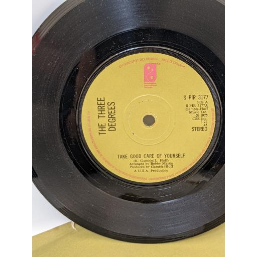 """THE THREE DEGREES Take good care of yourself, If and when, 7"""" vinyl SINGLE. SPIR3177"""
