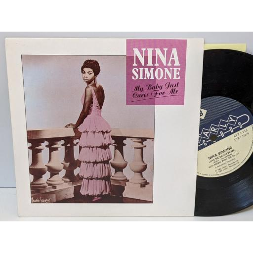 """NINA SIMONE My baby just cares for me, Love me or leave me, 7"""" vinyl SINGLE. CYZ7112"""