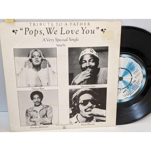 "DIANA ROSS, MARVIN GAYE, SMOKEY ROBINSON & STEVIE WONDER, Pops we love you, 7"" vinyl SINGLE. TMG1136"