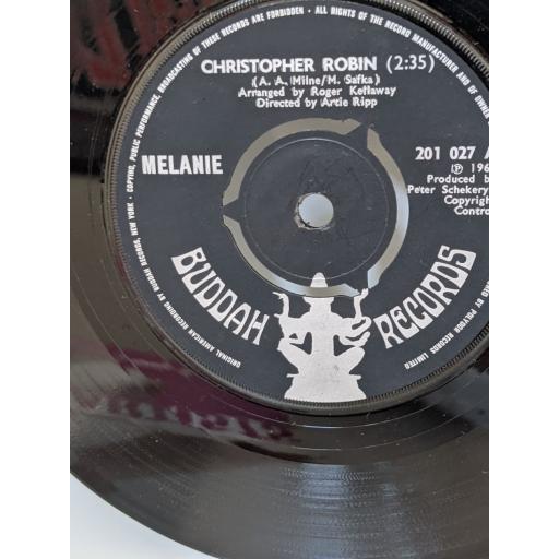 "MELANIE Christopher robin, Mr tambourine man, 7"" vinyl SINGLE. 201027"