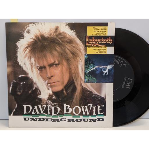 """DAVID BOWIE Underground, (instrumental), 7"""" vinyl SINGLE. EA216"""