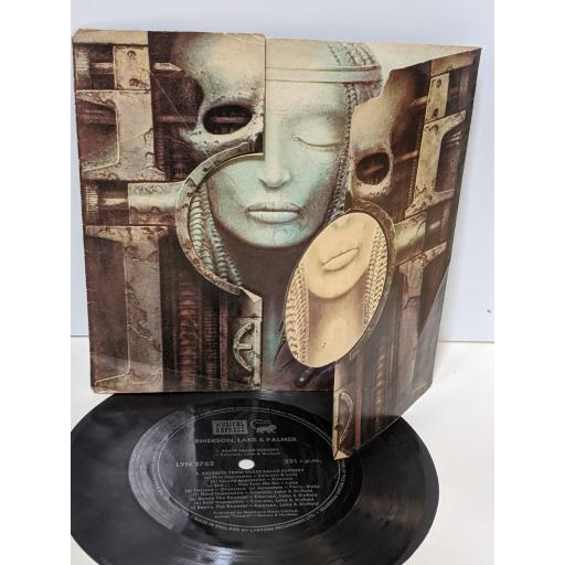 """EMERSON, LAKE AND PALMER Brain salad surgery, Excerpts from brain salad surgery, 7"""" flexi-disc SINGLE. LYN2762"""