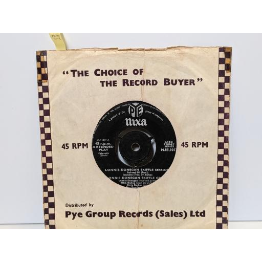 "LONNIE DONEGAN Skiffle session, 7"" vinyl SINGLE. NJE1017"