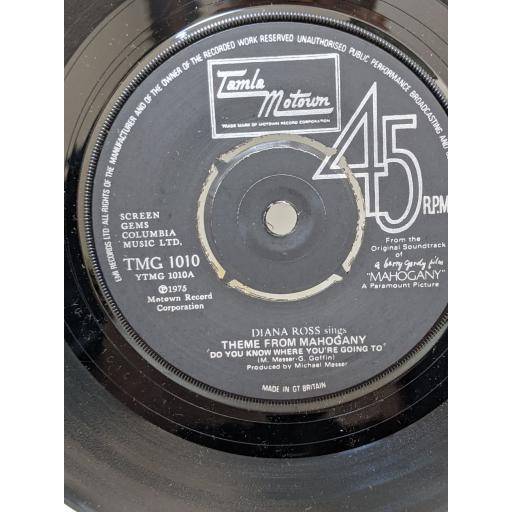 """DIANA ROSS Theme from mahogany """"do you know where you're going to"""", No one's gonna be a fool forever, 7"""" vinyl SINGLE. TMG1010"""