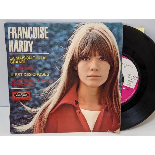 """FRANCOISE HARDY Le temps des souvenirs, J'ai bien du chagrin, Tu ne m'attendras pas, Bout de lune, 7"""" vinyl SINGLE. EPL8369"""