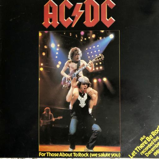 """AC/DC For those about to rock (we salute you), Let there be rock, 7"""" vinyl SINGLE. K11721"""