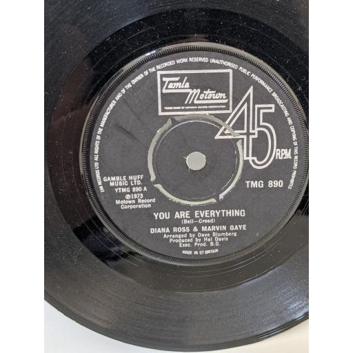 """DIANA ROSS & MARVIN GAYE You are everything, Include me in your life, 7"""" vinyl SINGLE. TMG890"""