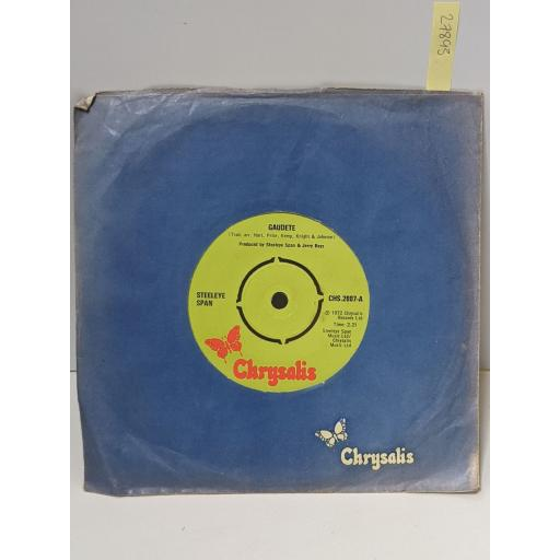 """STEELEYE SPAN Gaudete, The holly and the ivy, 7"""" vinyl SINGLE. CHS2007"""