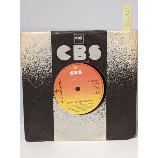 "BLUE OYSTER CULT (Don't fear) the reaper, R.u. ready 2 rock, 7"" vinyl SINGLE. SCBS6333"