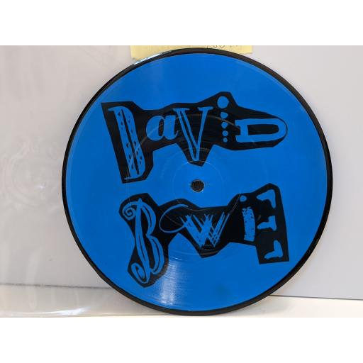 """DAVID BOWIE Press conference new york cat club 18 3 1987, 7"""" vinyl PICTURE DISC SINGLE. SPIDER2P"""