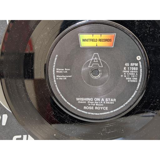 """ROSE ROYCE Wishing on a star, Funk factory, 7"""" vinyl SINGLE. K17060"""