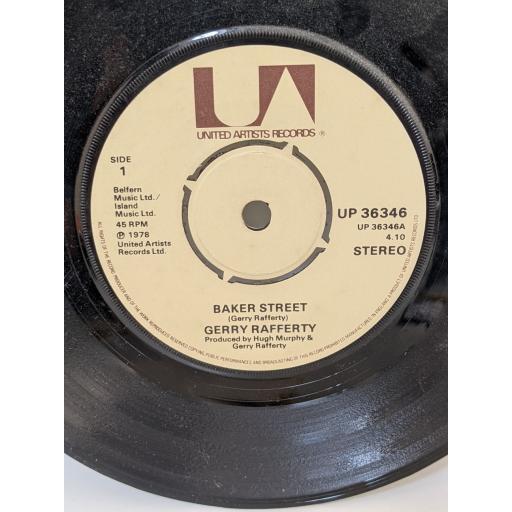 "GERRY RAFFERTY Baker street, big change in the weather, 7"" vinyl SINGLE. UP36346"