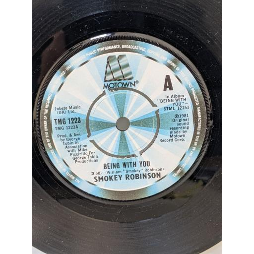 """SMOKEY ROBINSON Being with you, What's in your life for me, 7"""" vinyl SINGLE. TMG1223"""