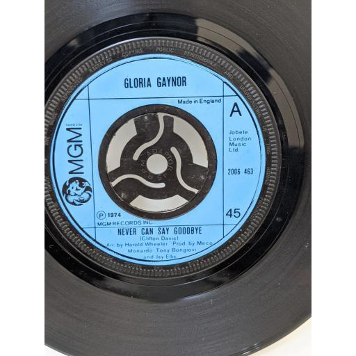 """GLORIA GAYNOR Never can say goodbye, We just can't make it, 7"""" vinyl SINGLE. 2006463"""