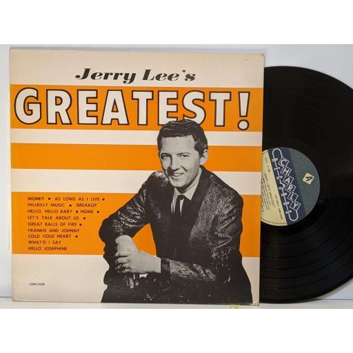 "JERRY LEE's greatest hits, 12"" vinyl LP. CRM2008"