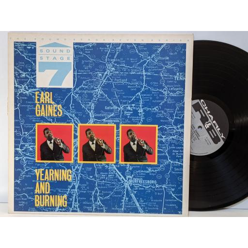 """EARL GAINES Yearning and burning, 12"""" vinyl LP. CRB1142"""