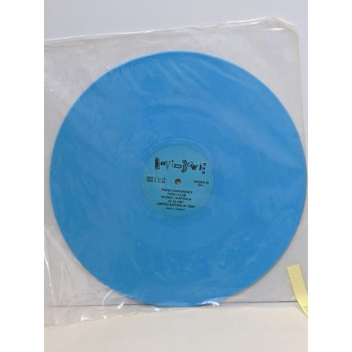 "DAVID BOWIE Press conference tivoli club sydney australia 27.10.1987 limited edition of 2000, 12"" vinyl SINGLE. SPIDER3S"